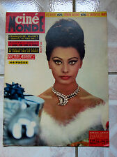 CINEMONDE 1964 CINEMA ACTEUR ACTRICE S. LAUREN / BEATLES / F. HARDY / J. MOREAU