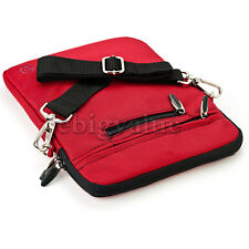 Red Tablet Shoulder Strap Bag Pouch Sleeve Case for Acer Aspire Switch 10