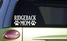Ridgeback Mom *H861* 8 inch Sticker decal rhodesian ridgeback lion hound