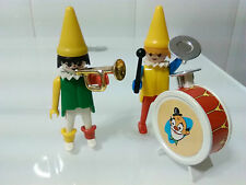 PLAYMOBIL ANTIGUA REF 3545 3477 ANTIGUO PAYASOS PAYASO CLOWN BOMBO CIRCO CIRCUS