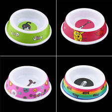 Plastic Pet Dog Cat Puppy Go Slow Eating Feed Bowl Food Water Feeder Dish UR