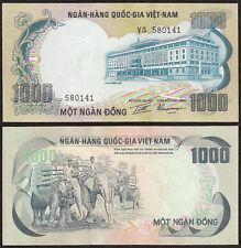 South Vietnam 1,000 1000 Dong, 1972, P-34, Elephant, Unc
