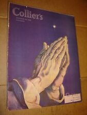 DECEMBER 28 1946 COLLIERS vintage magazine -- CHRISTMAS - PRAYING cover