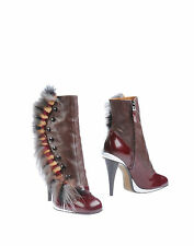 FENDI Leather Mink fur Ankle Boots,UK 4.5 / EU 37.5  RRP £1190
