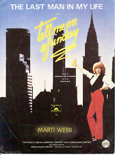SHEET MUSIC - THE LAST MAN IN MY LIFE - MARTI WEBB  - ANDREW LLOYD WEBBER (1982)