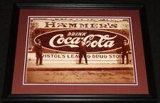 Vintage Coca Cola Bristol Drug Store Framed 11x14 Poster Display Official Repro
