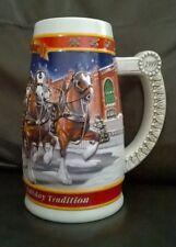 Budweiser Budwieser 1900 - 1999 Holiday Collectors Mug by Ceramarte of Brazil