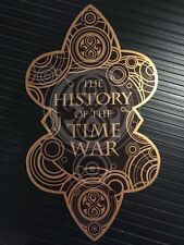 """DOCTOR WHO • THE HISTORY OF THE TIME WAR • 6"""" METALLIC GOLD PROP DECAL REPLICA •"""