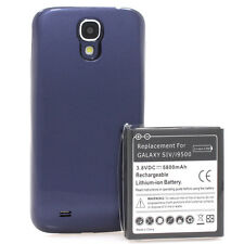 Samsung Galaxy S4 i9500 i9505 Power Akku Batterie 5800mAh Bumper Cover blau