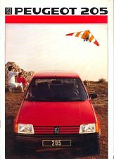 Peugeot 205 range inc GTI 1986 Italian market full colour sales brochure