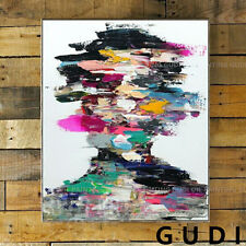 GUDI-Modern abstract portrait hand-painted oil painting home decoration Unframed