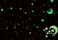 Safely 24PCS Kids Room Sticker Moon Stars Ceiling Glow In The Dark Decoration