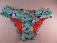 NWT Hobie Umbrella Print Bikini Bottoms Sz Small Sea Glass Color