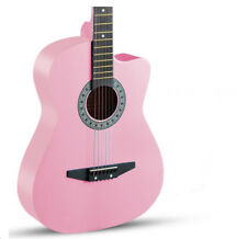 Pink New High-Grade 38 inch Basswood Musical Instruments Acoustic Guitar #
