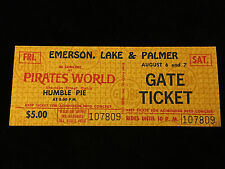 EMERSON, LAKE, & PALMER-HUMBLE PIE-UNUSED CONCERT TICKET-ORIGINAL-1971-FRAMPTON
