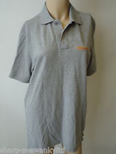 ☆ MCKENZIE Mens Grey Logo Embroidered Short Sleeved Polo Shirt Top Size Medium ☆