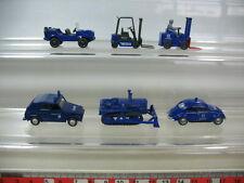 N390-0,5# 6x Wiking H0 THW-Modelle: Raupe, Gabelstapler, VW Käfer + 181,…