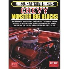 Musclecar & Hi-Po Engines Chevy Monster Big Blocks  book paper