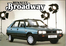 Renault 9 & 11 Broadway Limited Editions 1985-86 UK Market Sales Brochure