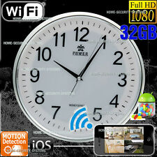 Home Security Wireless Camera WIFI IP Wall Clock Nanny Room Office No SPY Hidden