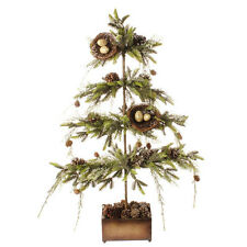 "NEW~RAZ Import~32"" Christmas Flat Iced Bird Nest Tree With Pinecones~BEST SELLER"