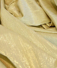 """LYCRA METALLIC STRETCH WHITE/GOLD 52""""  BTY FORMAL SUITS DANCE HOLIDAY"""
