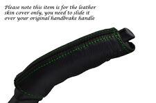 Verde costura se adapta a Jaguar Xj40 Xj6. 86-94. Freno De Mano Mango De Cuero Piel cubierta