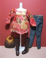LIV FASHION ALEXIS SPIN MASTER CLOTHES OUTFIT-Jeans Top, 1st issue Brown Boots