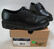 Dr. Marten Unisex 1461 Mono Black Smooth 3-Eyed Lace-Up Oxford Size US M 7/W 8