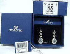 Swarovski Adore Pierced Earrings, Drop-Shade Blue/Clear Crystal MIB - 5043650