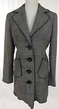 ZUCCHERO Multipattern Blazer, Damenblazer Jacke Schurwolle schwarz weiß Gr. 38