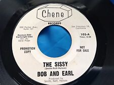 Soul 45 : Bob And Earl ~ The Sissy ~ Baby I'm Satisfied ~ Chene 103 Promo