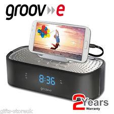 Groov-e GVSP 406bk timecurve sveglia radio con stazione di ricarica USB-Nero