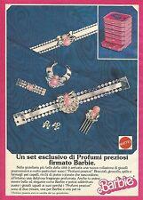X1072 BARBIE - Set esclusivo di profumi preziosi - Mattel - Pubblicità 1988