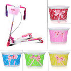 Bike Flowery Front Basket Bicycle Cycle Shopping Stabilizers Children Kids Girl0