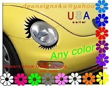 Eyelashes w/ Lowers for car headlight Volkswagen light decal VW Mini Cooper NEW