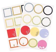 RSVP Round & Square Decorative Gift Canning Jar Label Assortment, 48-Piece Set
