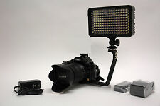 Pro 4K 12 LED video light w/ AC adapter F570 for Sony HXR NX100 AX1 HD camcorder