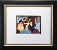 "ITZCHAK TARKAY ""Aperitif"" LITHOGRAPH Custom FRAMED Art - OUT OF PRINT Israeli"
