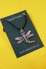PENDANT DRAGON FLY INSECT DRAGONFLY NECKLACE HAND CRAFTED UK FINISH NEW