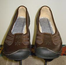 Women's KEEN Brown Leather/Mesh Casual Cool Flat Sz. 37 EU / 6.5 US Minty!