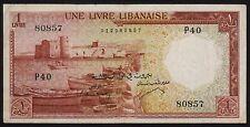 1 Livre     1952      Chamoun  Liban Lebanon Beirut  .......(43a)