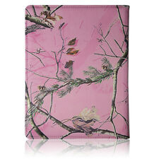 Apple ipad 2/3/4 Pink Camo Real Pine Tree 360 rotating SMART CASE COVER STAND