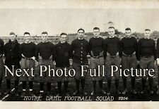 "1914 Notre Dame Football Squad Vintage Panoramic Photograph 36"" Long"