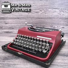 Serviced INVICTA Burgundy Typewriter Working (old Olivetti) Black Ribbon torino