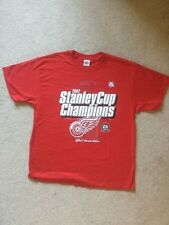 NHL 2002 Detroit Red Wings Stanley Cup Champions T Shirt XL Parade Edition
