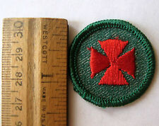 Vintage 1955-1960 Girl Scout FIRST AID BADGE Red Maltese Cross Doctor Patch