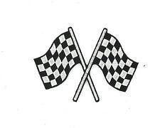 Toppe Patch toppa ricamate termoadesiva moto biker bandiera a scacchi