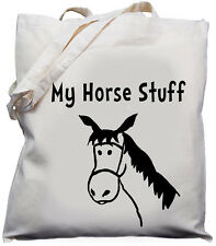Cute Horse Stuff Gift  Natural Cotton Shoulder Bag 100% Cotton Tote Bag
