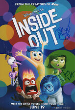 "Pete Docter & Jonas Rivera ""inside out"" AUTOGRAFI SIGNED 20x30 cm immagine"